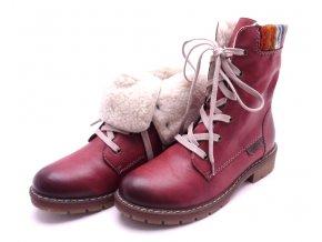 Dámské kotníkové boty s pleteninou Y9122-35
