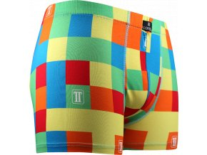 boxerky kostky barevne