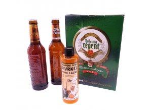 Dárkové balení 2 piva a pivní šampón