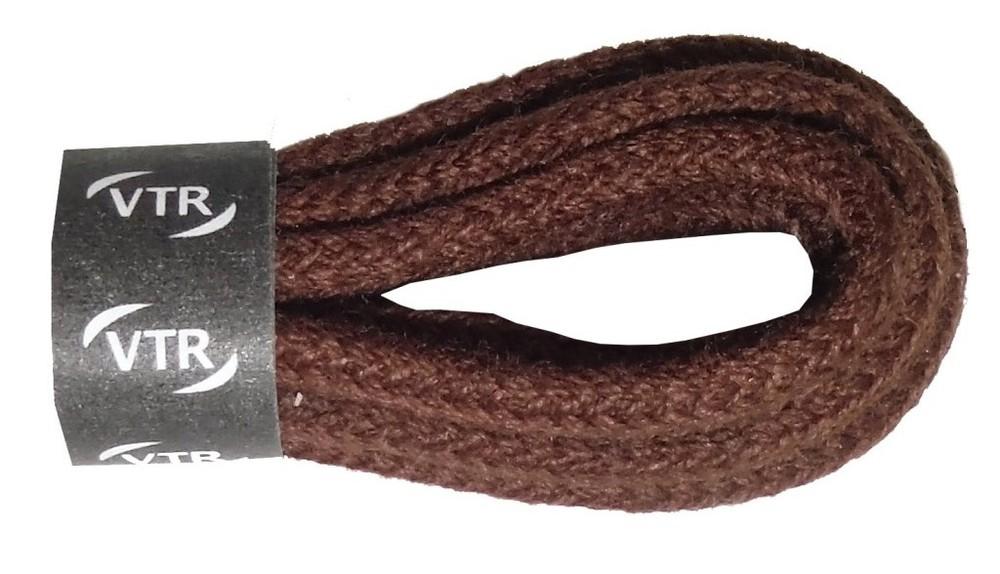 VTR Tkaničky bavlněné kulaté tenké (druh 2) Barva: hnědá, Délka: 140 cm