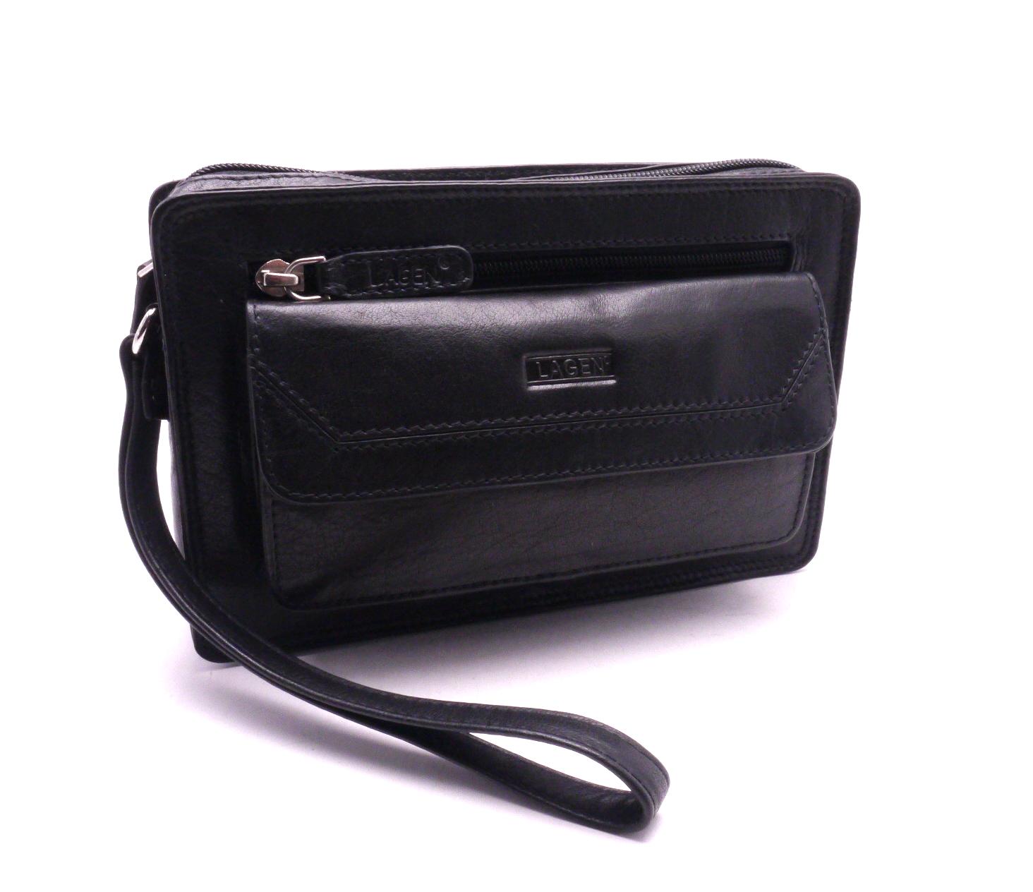Lagen Pánská kožená taška LM-022 BLACK f496424e4dd