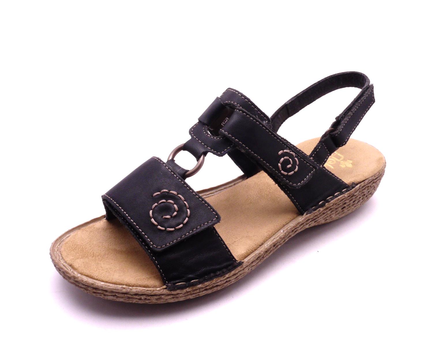 f5f9307c2cf0 Rieker Dámské černé sandály 65863-00 Velikost  39