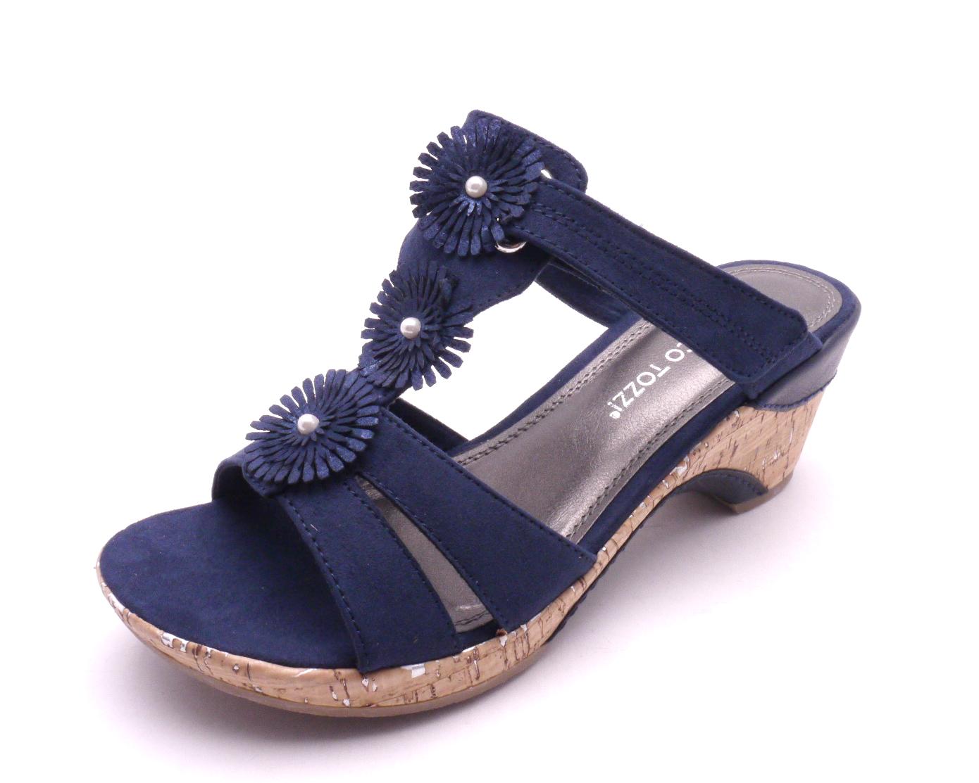 Marco Tozzi Dámské pantofle 2-27213-890 NAVY Velikost: 37