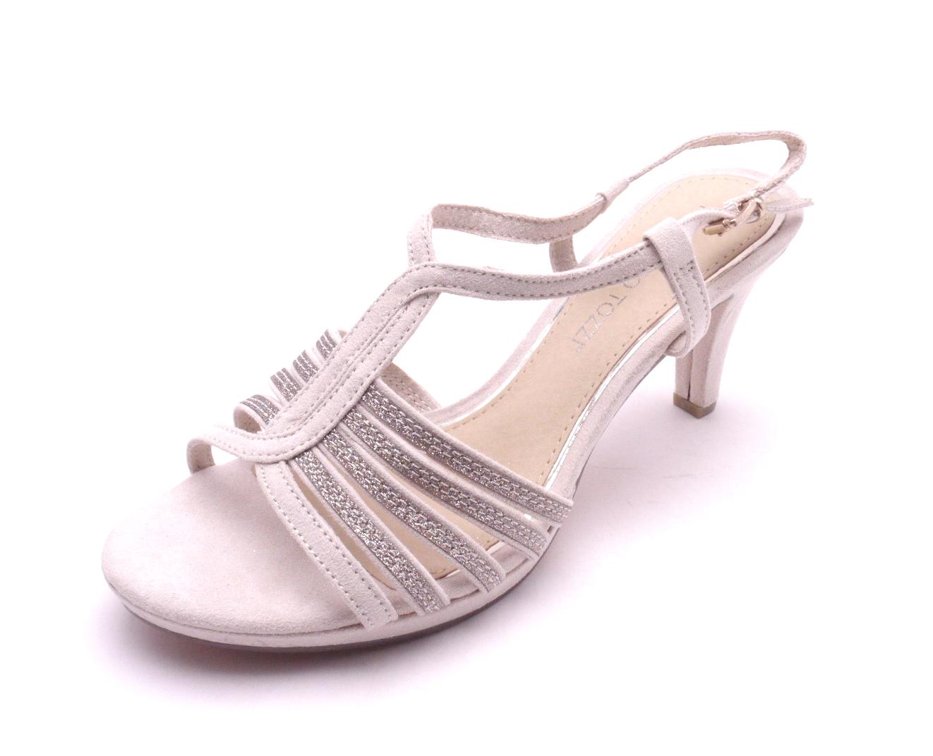 b43a1ecf542f Marco Tozzi Dámské béžové sandály na podpatku 2-28303-435 Velikost  39