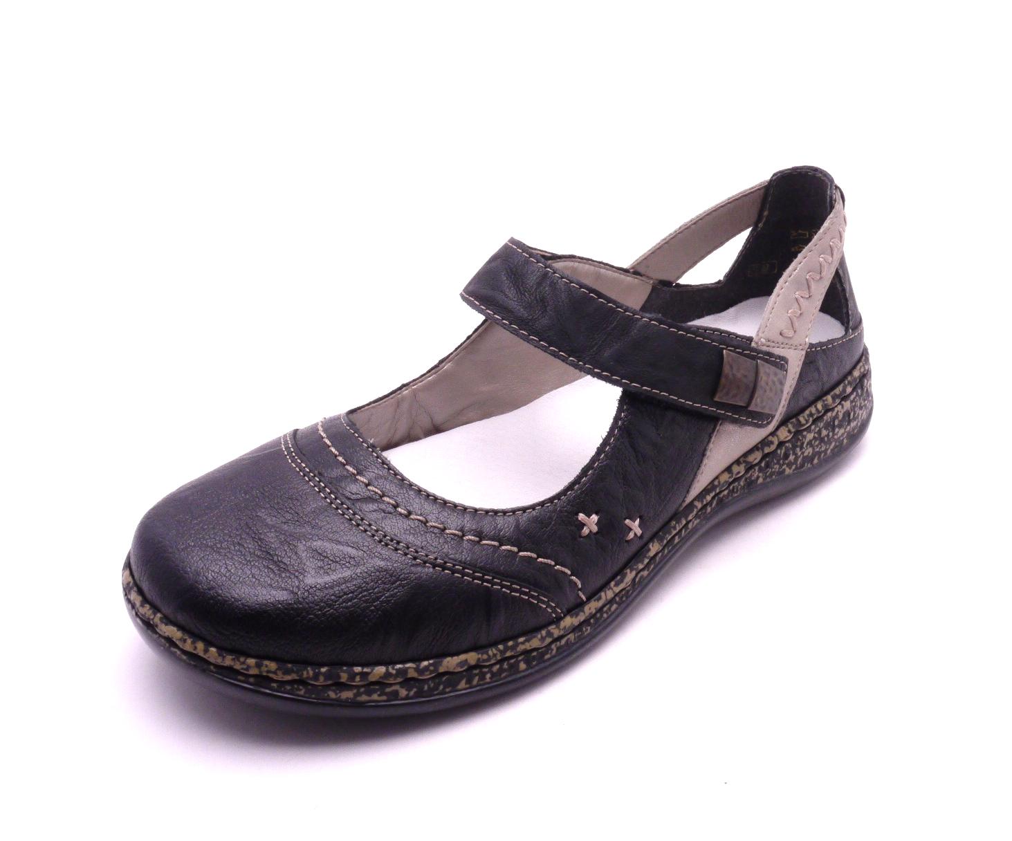 63fa753dd88f Rieker Dámské černé sandály 46378-00 Velikost  41