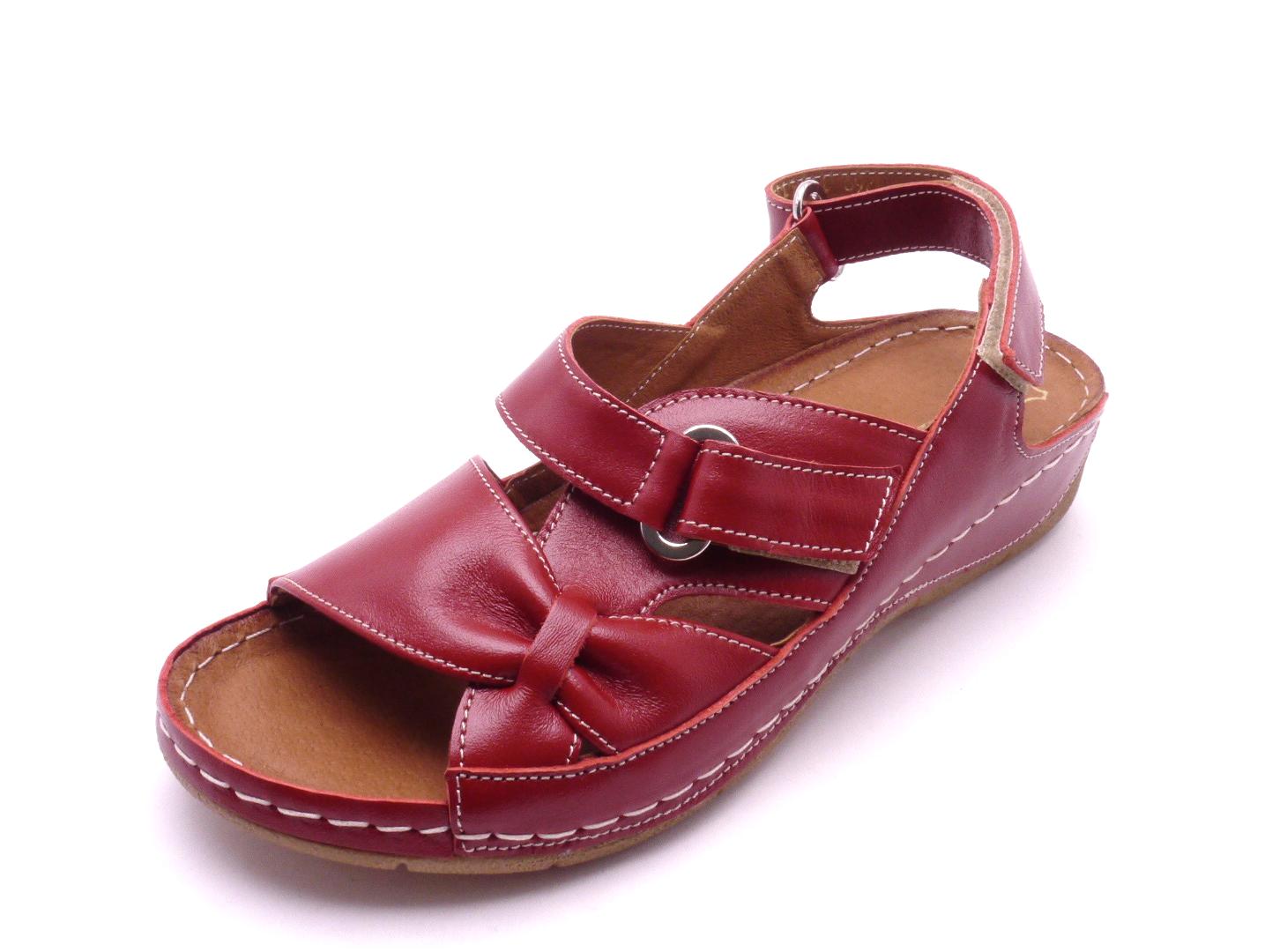 cff24eb878 Mintaka Dámské červené sandály 1269 Velikost  37