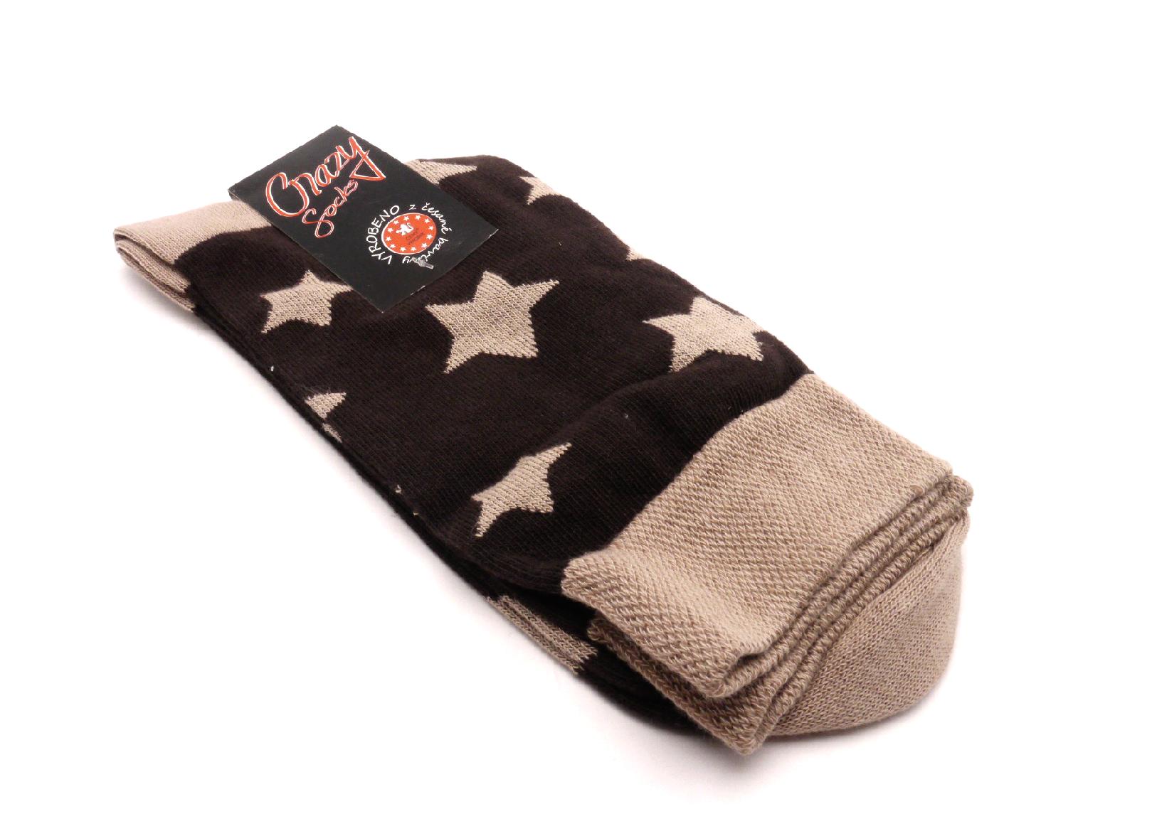 Crazy Sock Ponožky hvězdy béžový velikost: 41-46