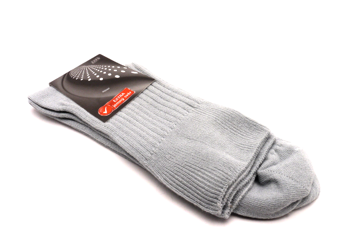 Zapo Ponožky světlé šedé extra jemný svěr velikost: 42-46