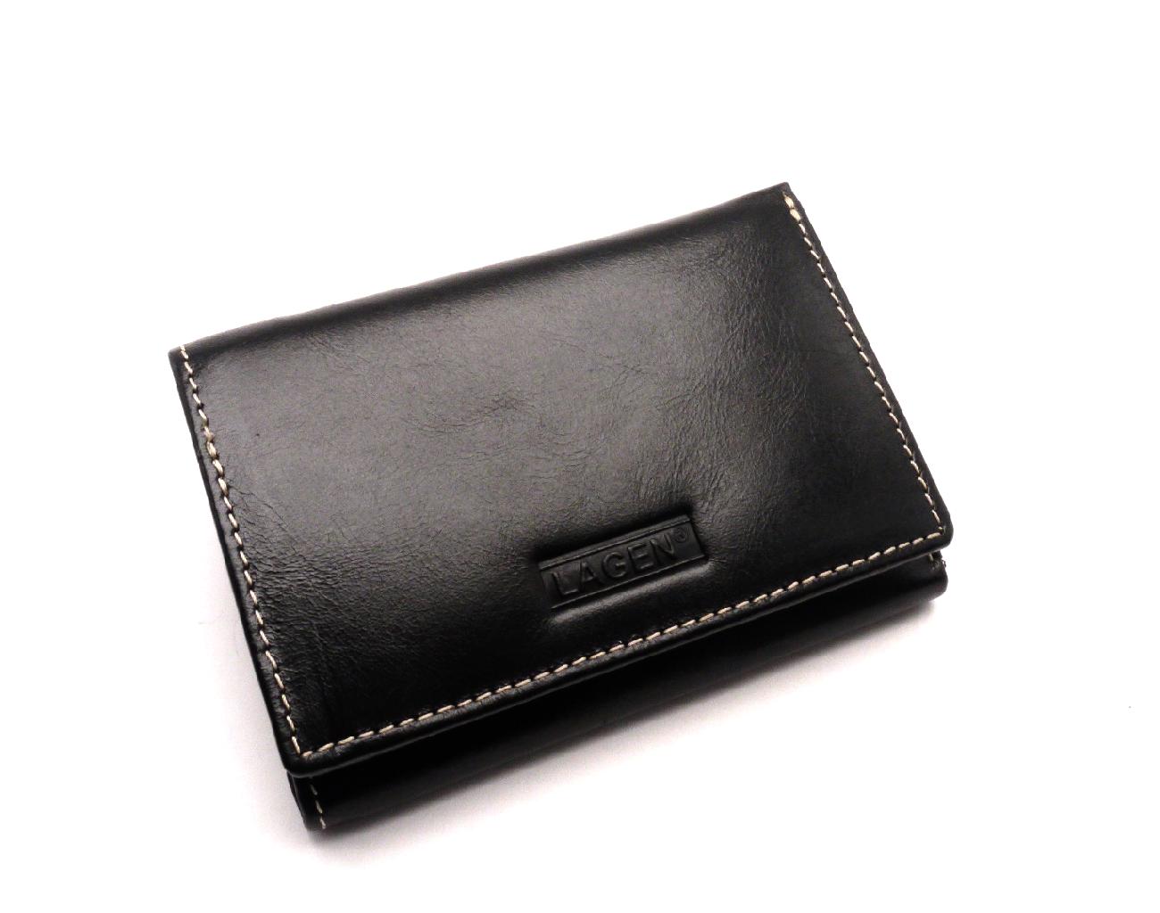 Lagen Dámská kožená peněženka 2521/EST BLACK