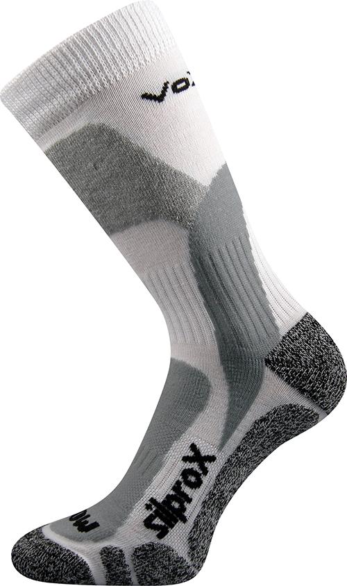 Voxx Ponožky Ero snow - bílé velikost: 47-49
