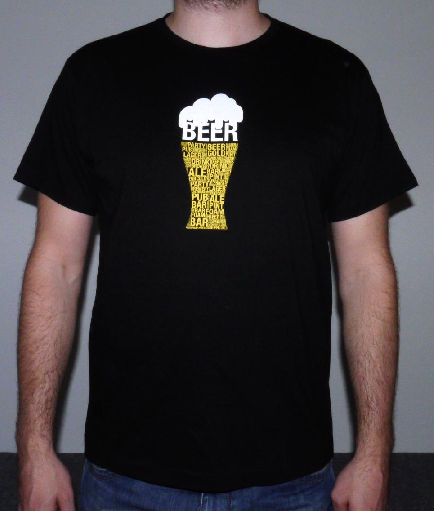 MCM Tričko - Pivo černé velikost  M 41013e30e8