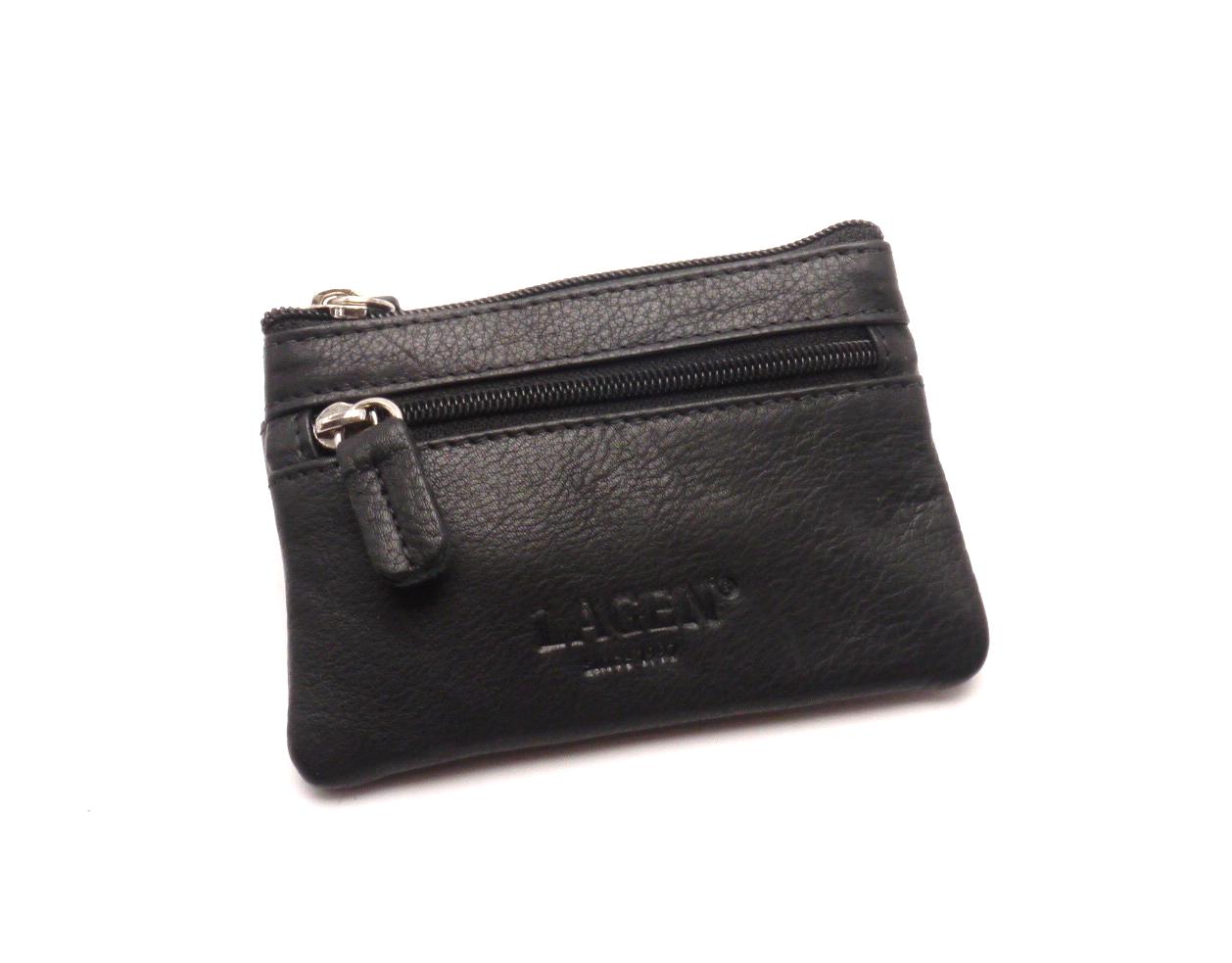 Lagen Malá peněženka s klíčenkou M-2 BLACK