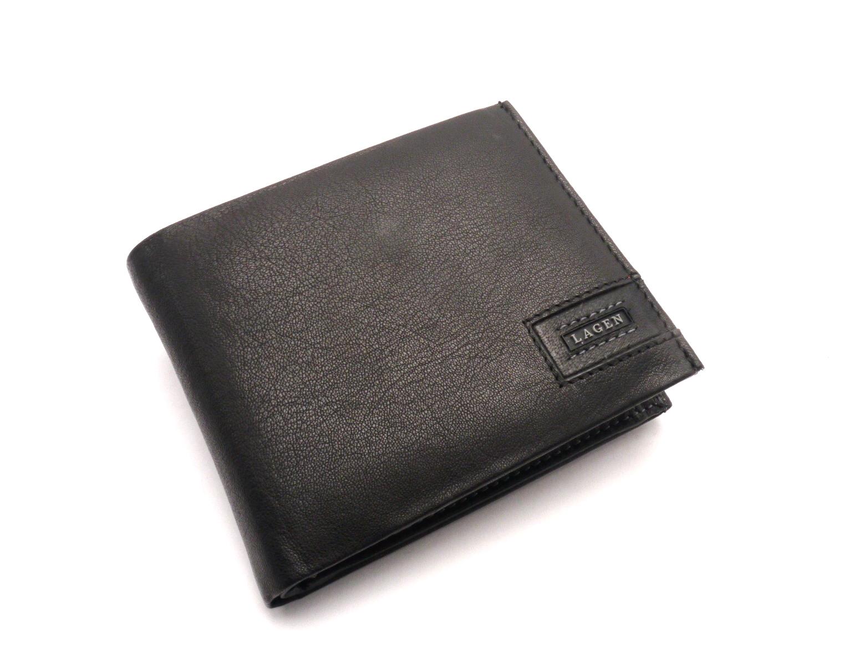 Lagen Pánská kožená peněženka LG-1125 BLACK