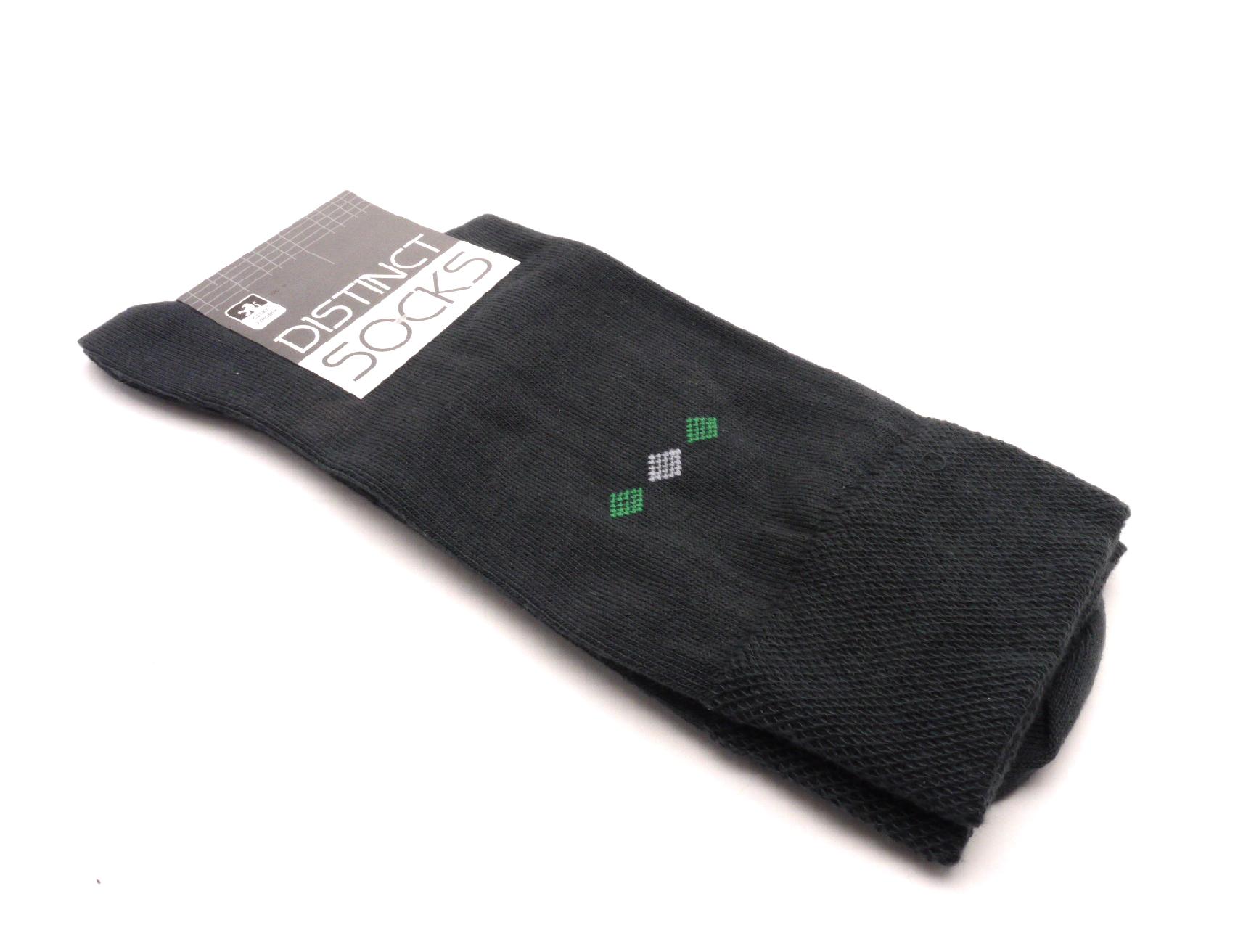 Tapo Ponožky distinct šedá kosočtverec zelený velikost: 43-46