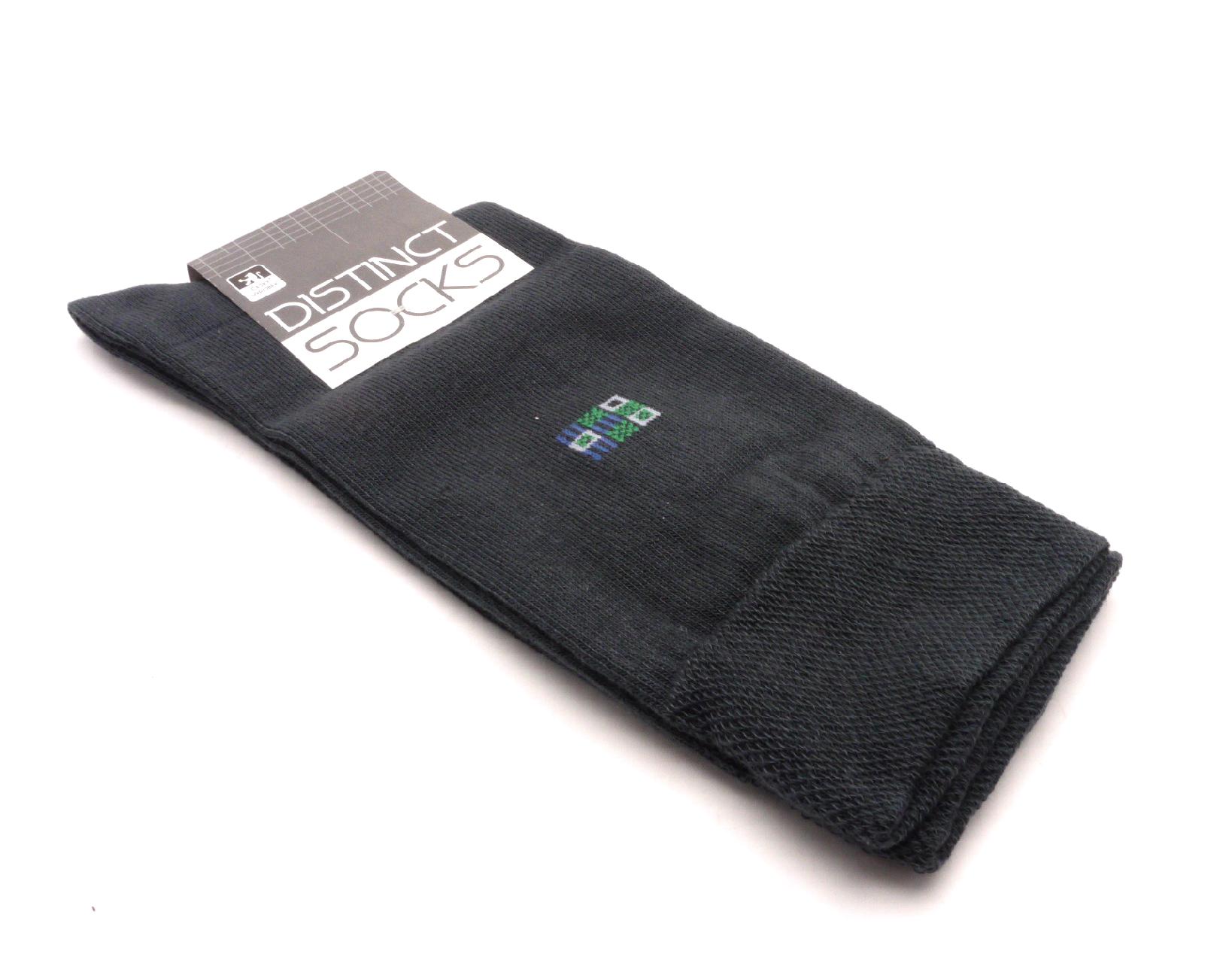 Tapo Ponožky distinct šedá- čtverec modrý velikost: 41-43