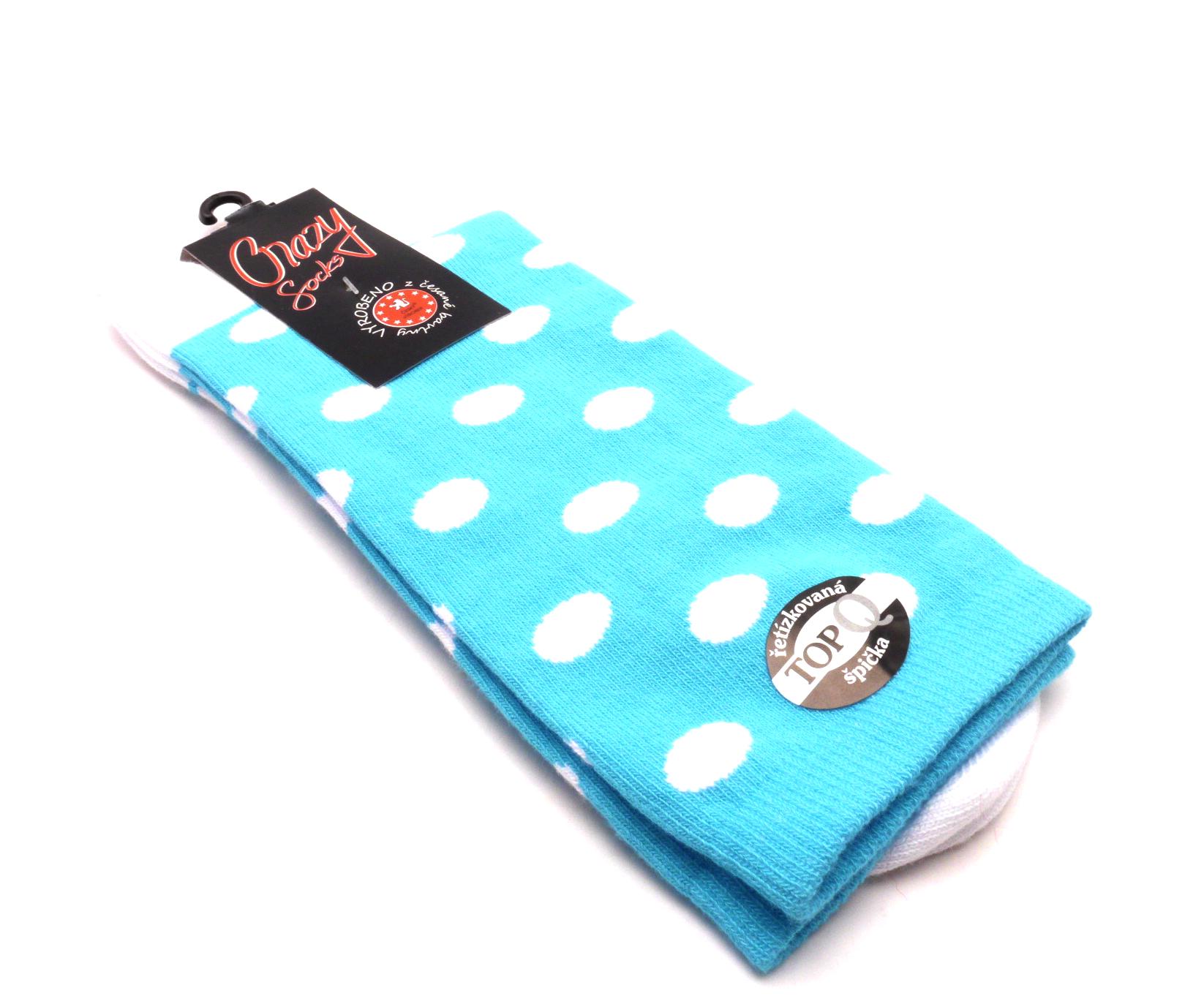 Crazy Sock Ponožky kolečka malý - bílý velikost: 41-46