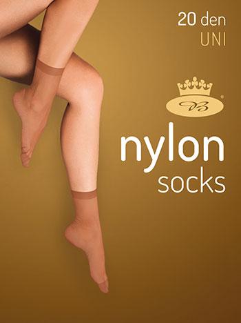 Boma Silonové ponožky Nylon 5 párů - černá