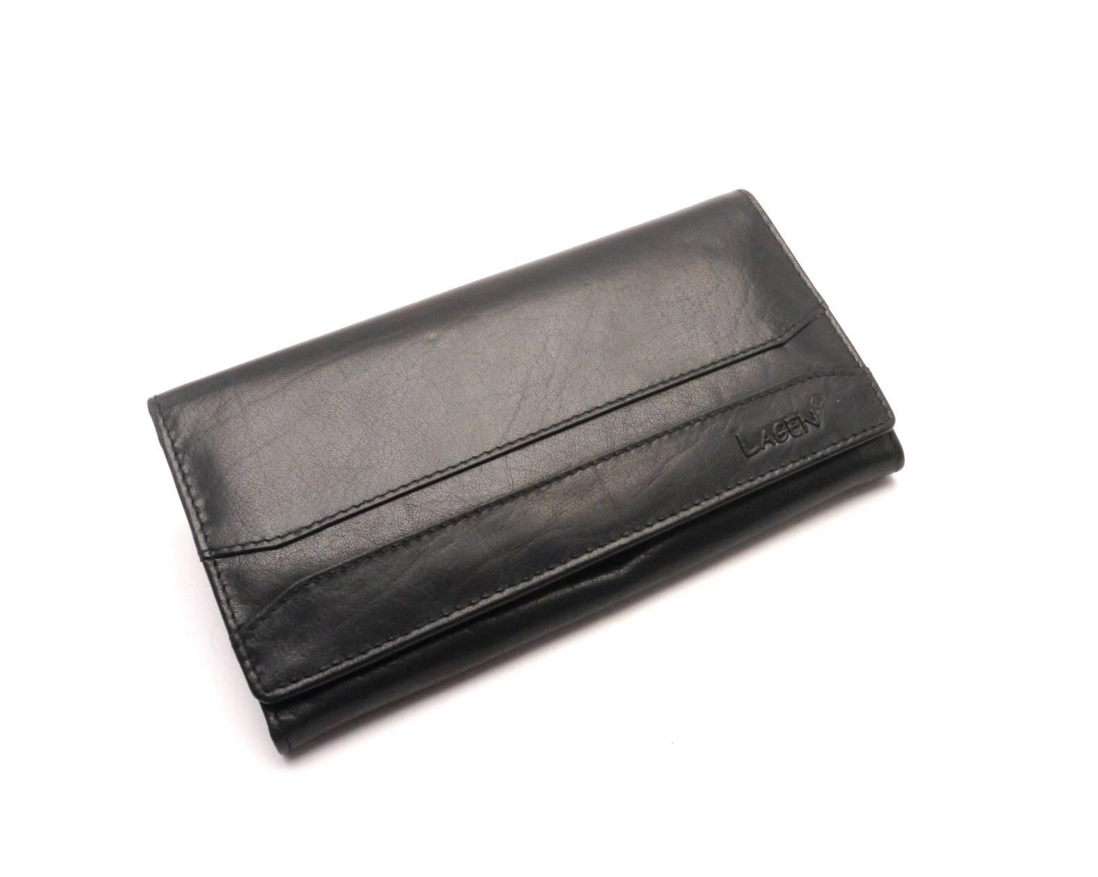 Lagen Dámská kožená peněženka w-2025 BLACK