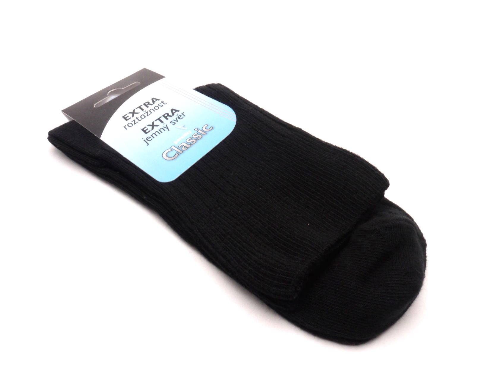 Zapo Ponožky černé extra jemný svěr velikost: 42-46