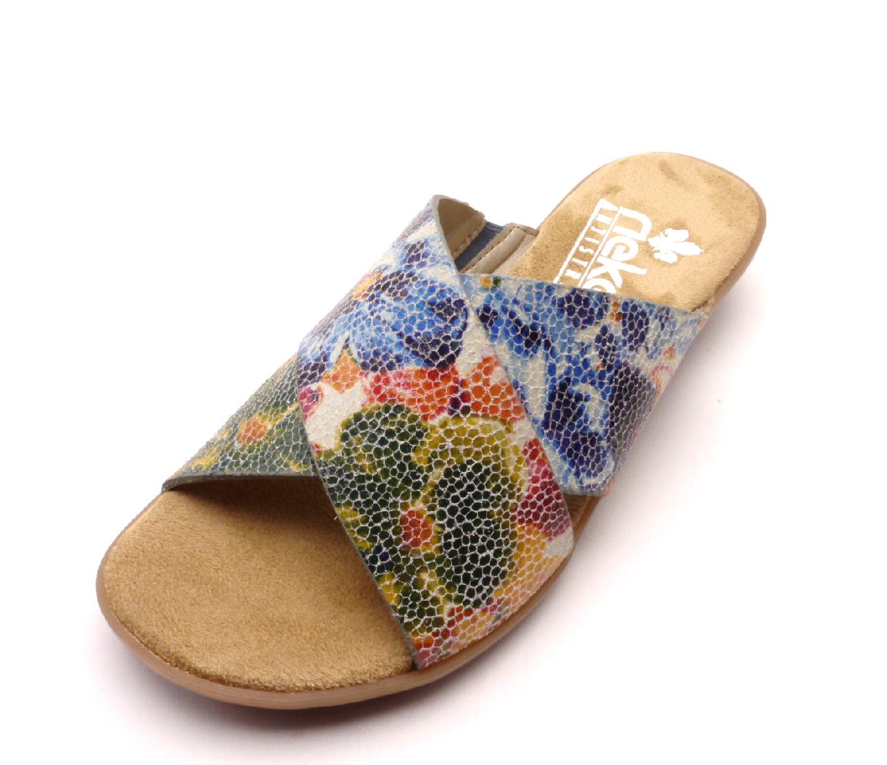 Rieker Dámské barevné pantofle 63460-90 Velikost: 42