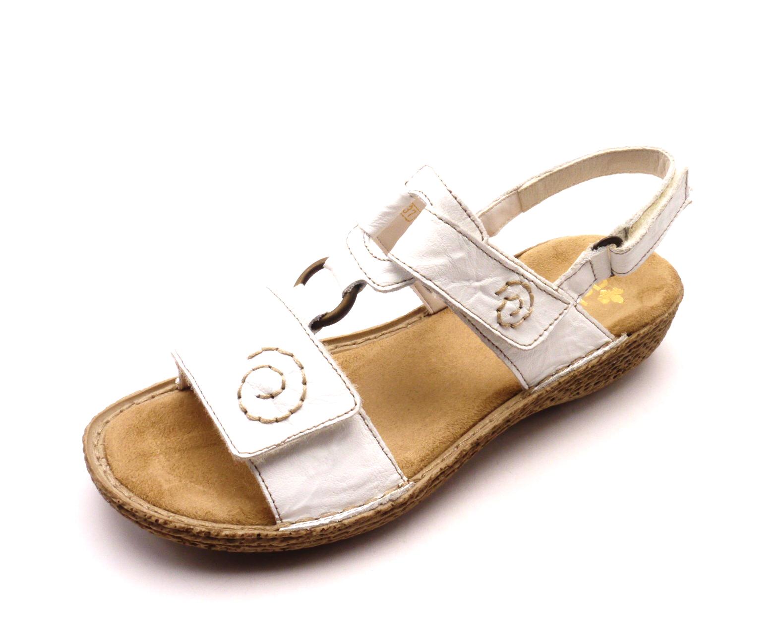 Rieker Dámské sandály v bílé barvě 65863-80 Velikost  36 60922523fb