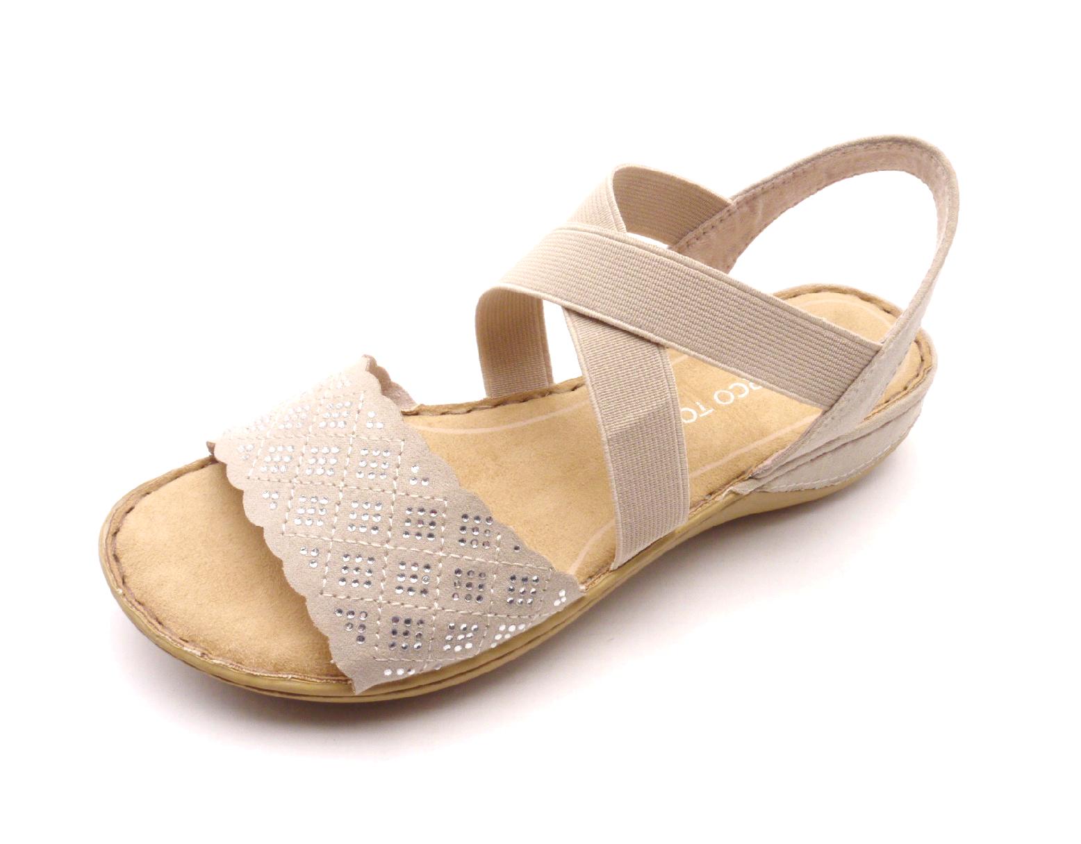 Marco Tozzi Dámské sandály 2-28503-28 béžové Velikost: 37