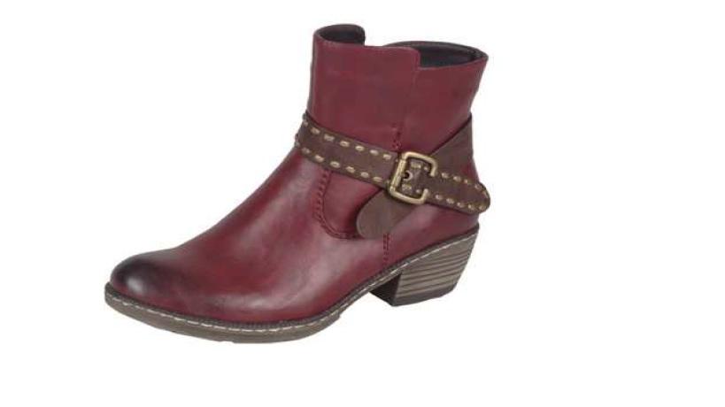 Rieker Dámská kotníčková obuv s ozdobným páskem 93775-35 Velikost: 37