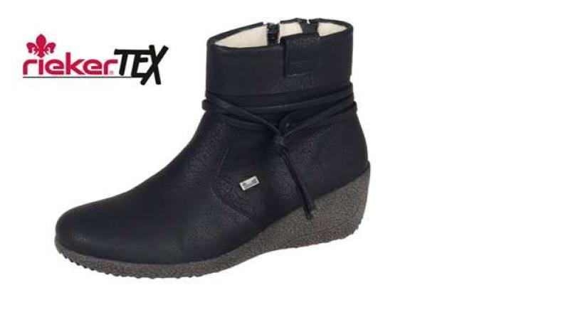 Rieker Dámská obuv na klínku s kožíškem Y0351-00 Velikost: 36