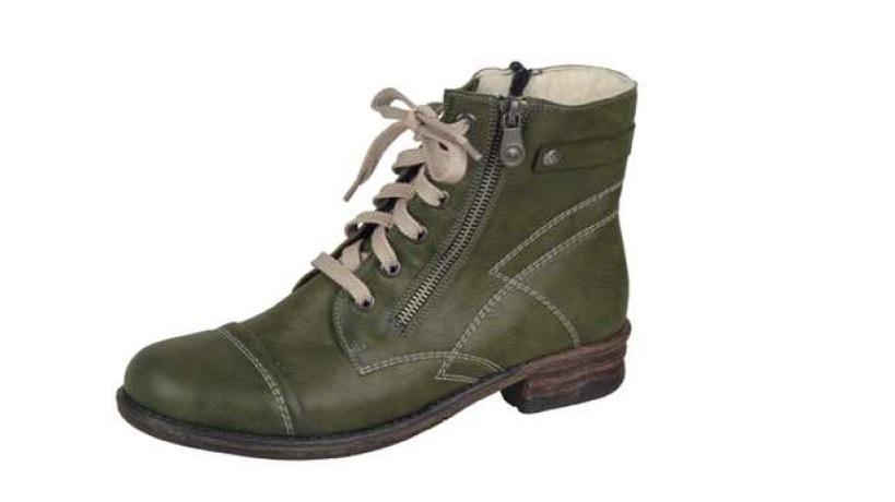 Rieker Dámská zimní obuv s dekoračním zipem z vnější strany z9810-52 Velikost: 37