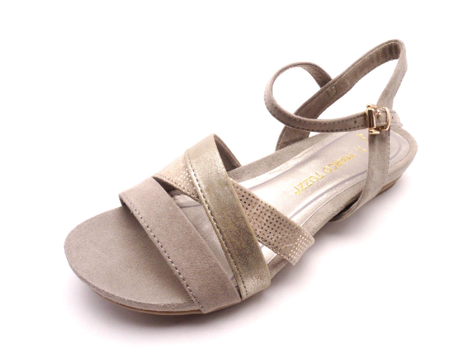 Marco Tozzi Dámské sandály 28119-28 344 Taupe Comb Velikost: 36