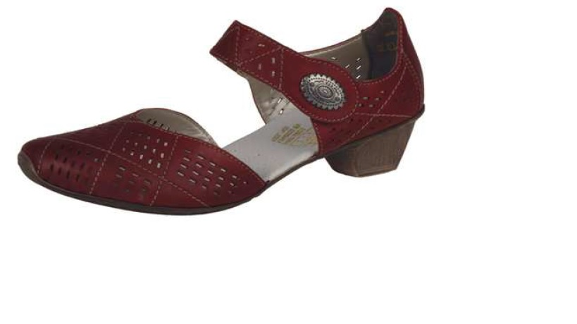 Rieker Dámská červená perforovaná obuv 49766-33 Velikost: 37