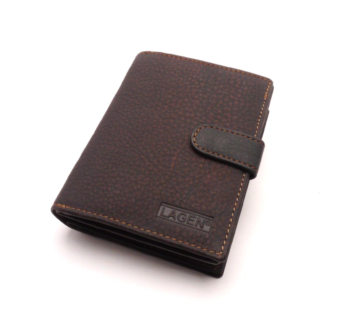 Lagen Dámská kožená peněženka B03W Brown
