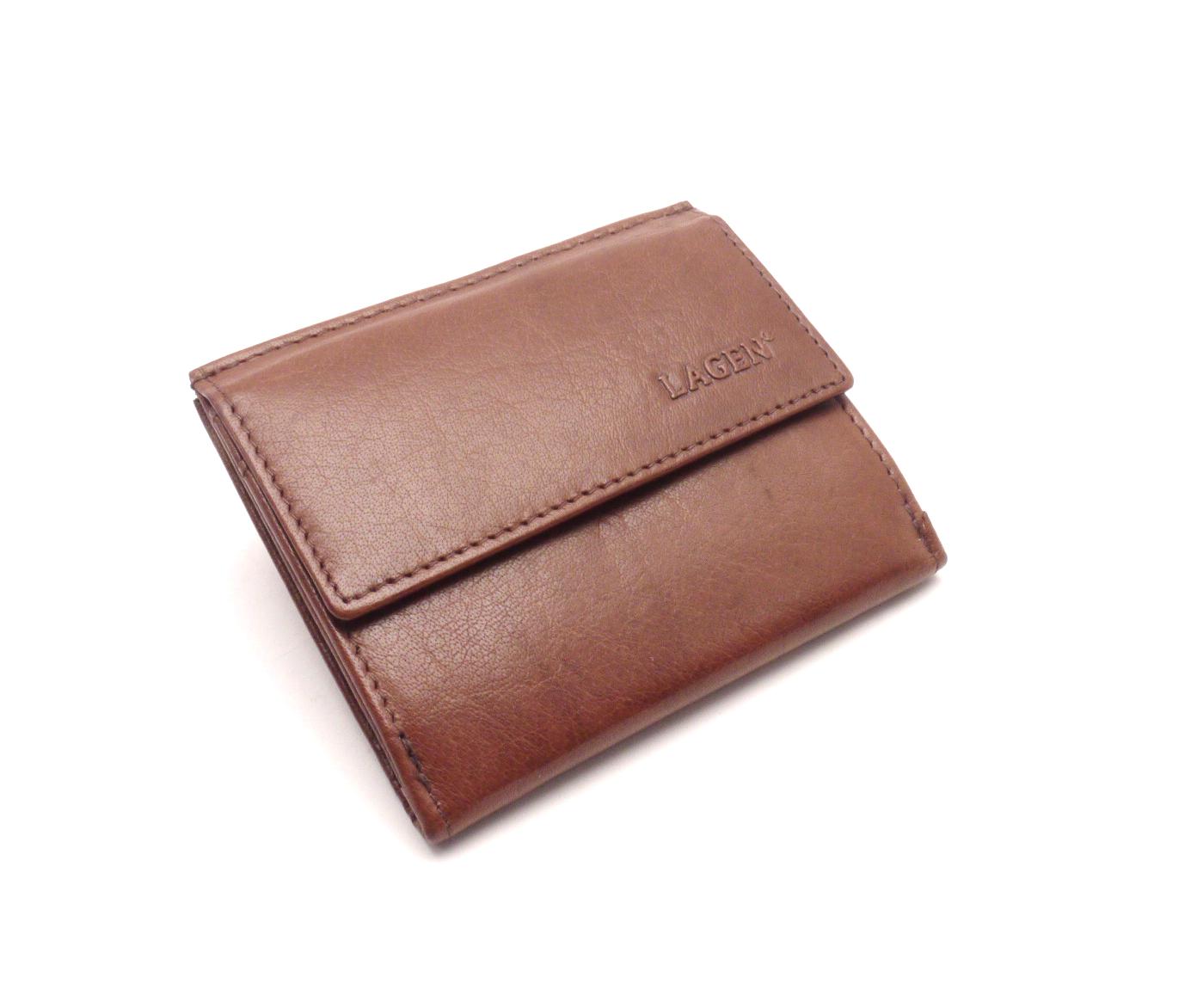 Lagen Pánská kožená peněženka E-1055 Brown