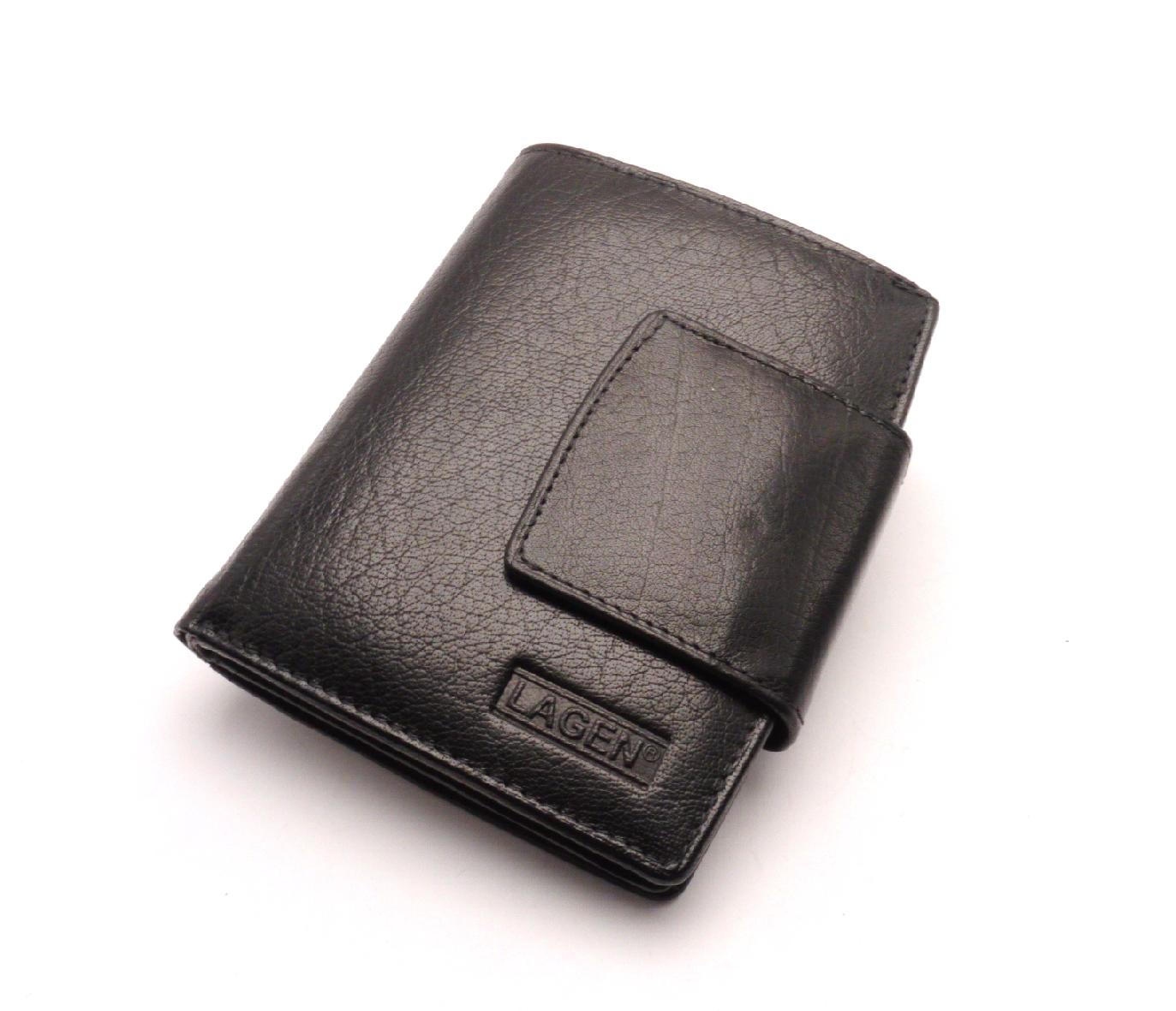 Lagen Dámská kožená peněženka 3994 BLACK