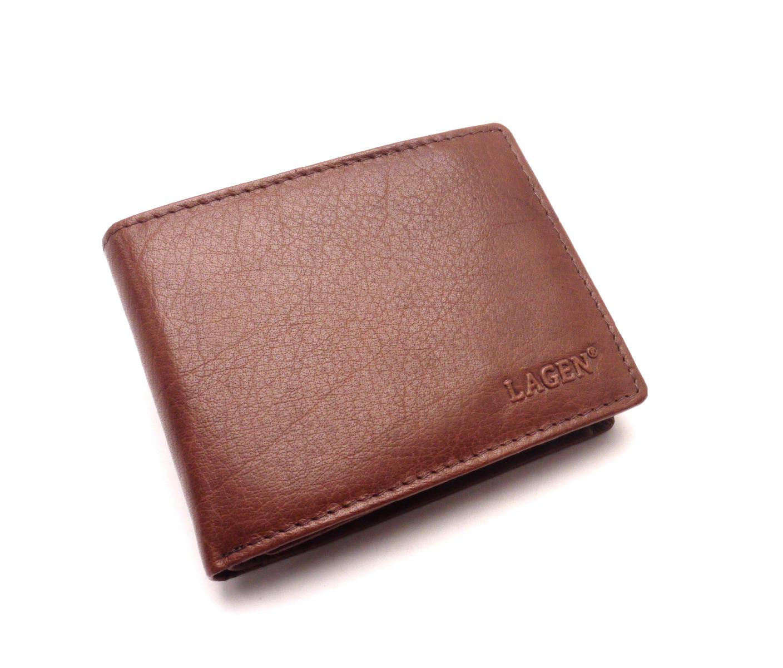 Lagen Pánská kožená peněženka 231008 BROWN