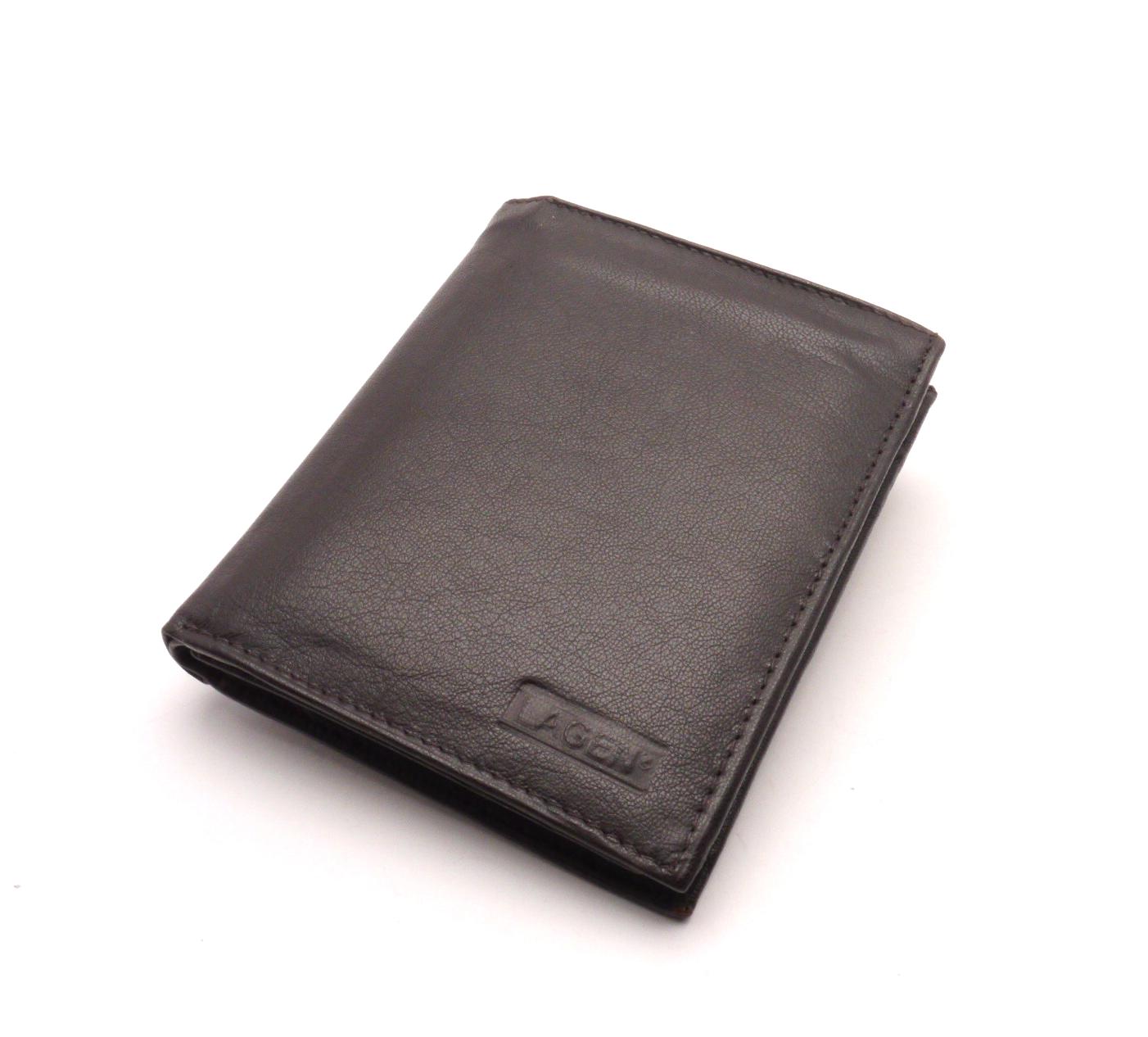 Lagen Pánská kožená peněženka W-8111L BROWN