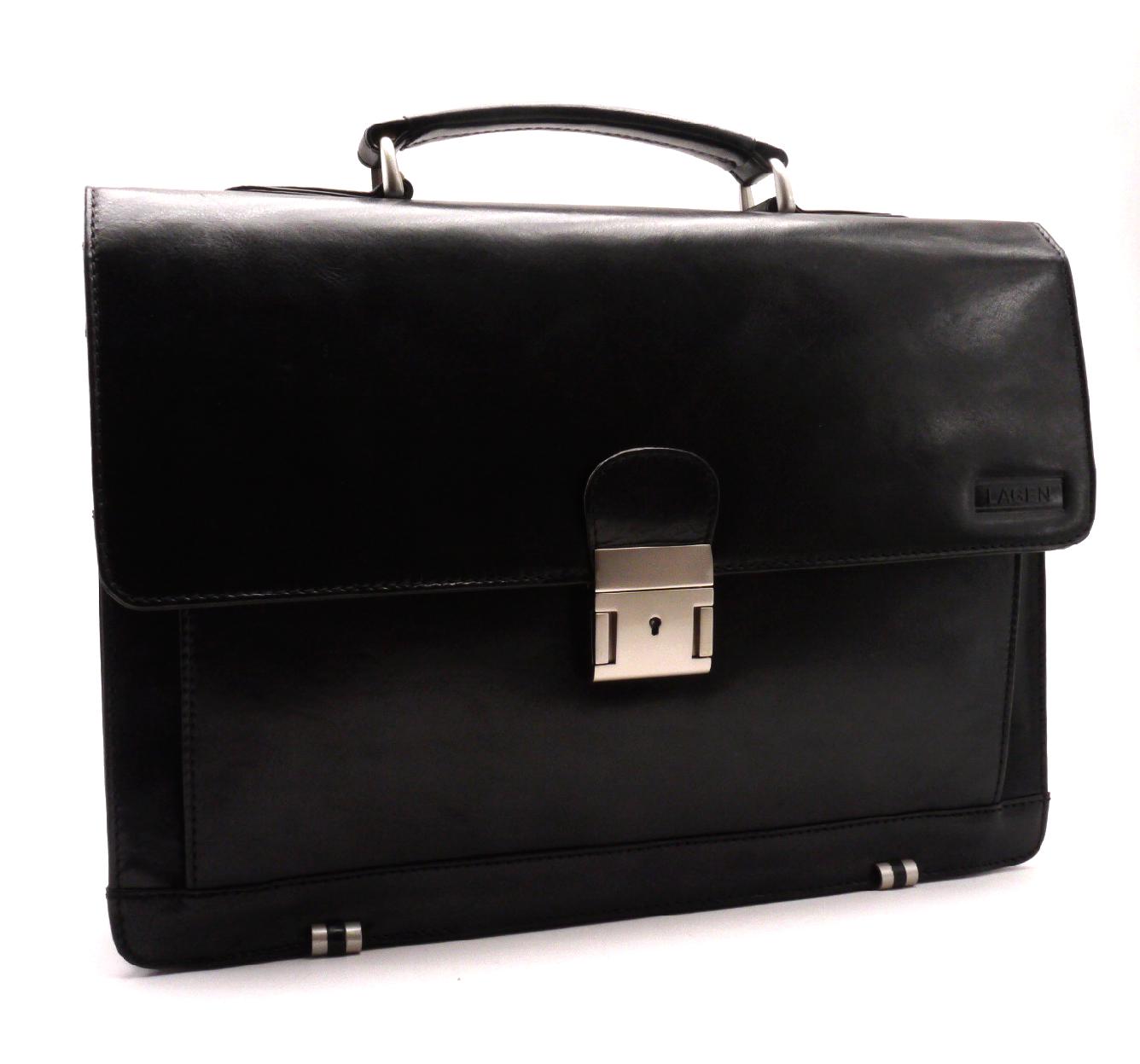 Lagen Pánská kožená taška 2079/T černá