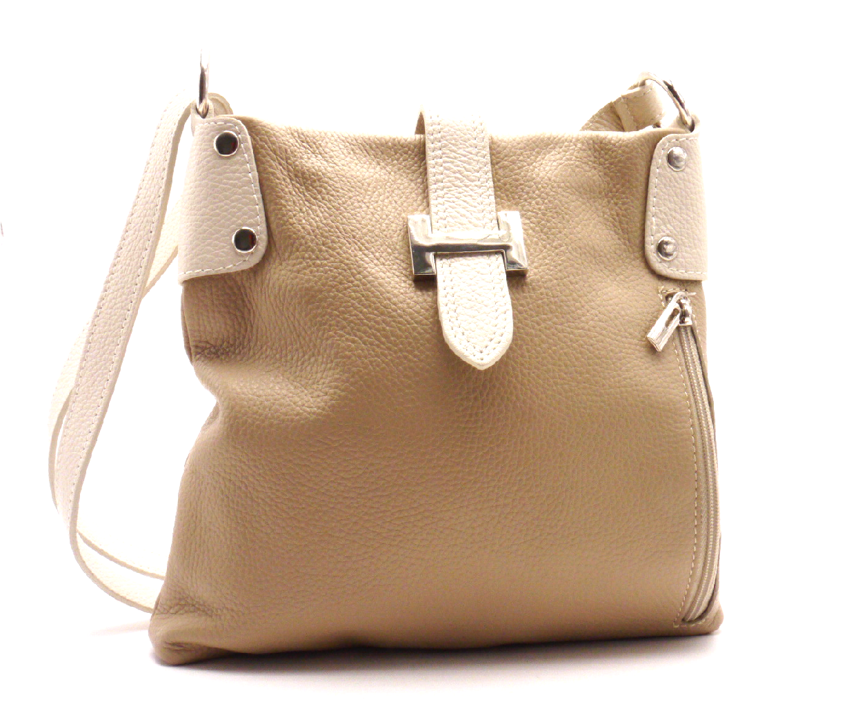 Borse Design Krásná kabelka 10-85 béžová - béžové ucho a33f473a741