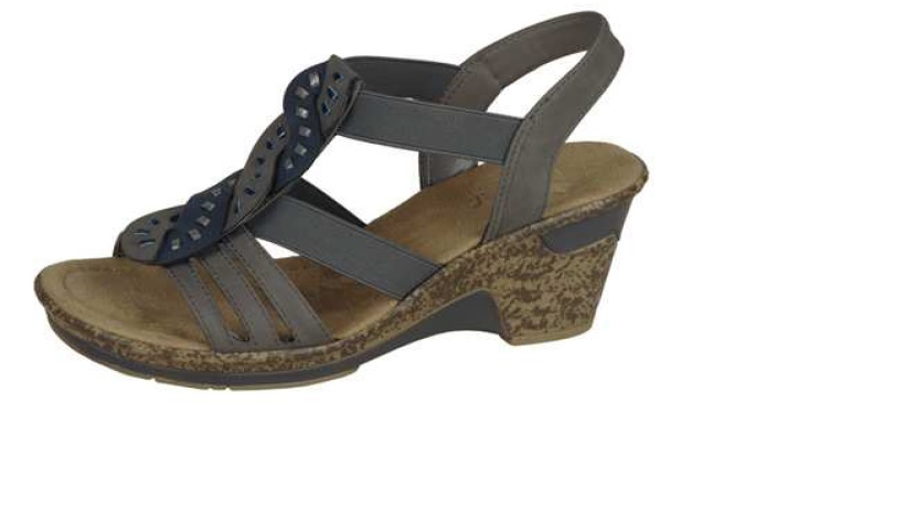 Rieker Dámské pohodlné sandály na klínku 60668-42 Velikost: 42
