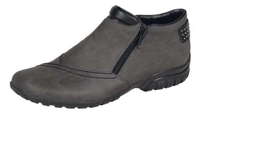 Rieker Dámská šedá obuv s kožíškem l4662-45 Velikost: 42