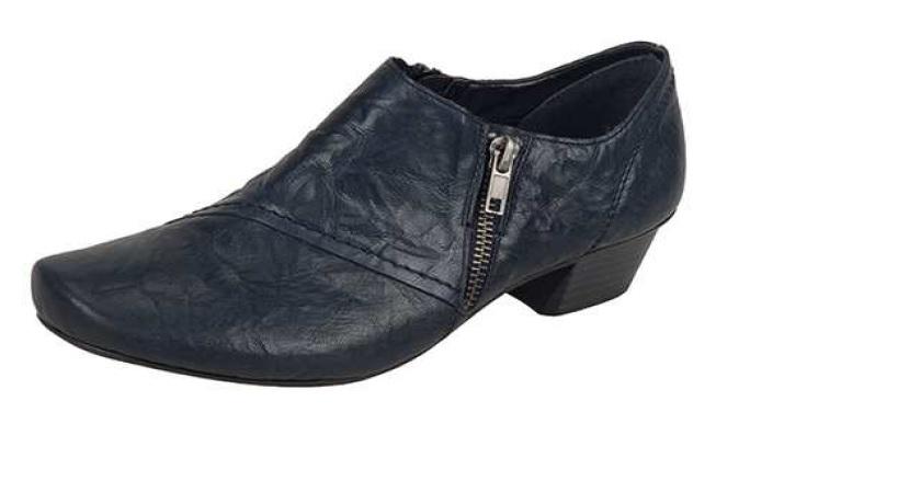 Rieker Dámská kožená obuv na nízkém podpatku 53851-15 Velikost  42 69c7fc48ebb