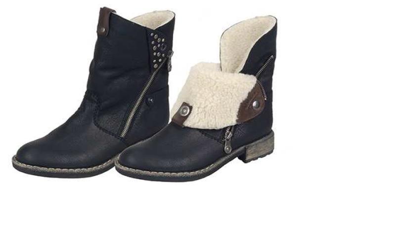 Rieker Dámská ohrnovací obuv 74689-00 Velikost: 42