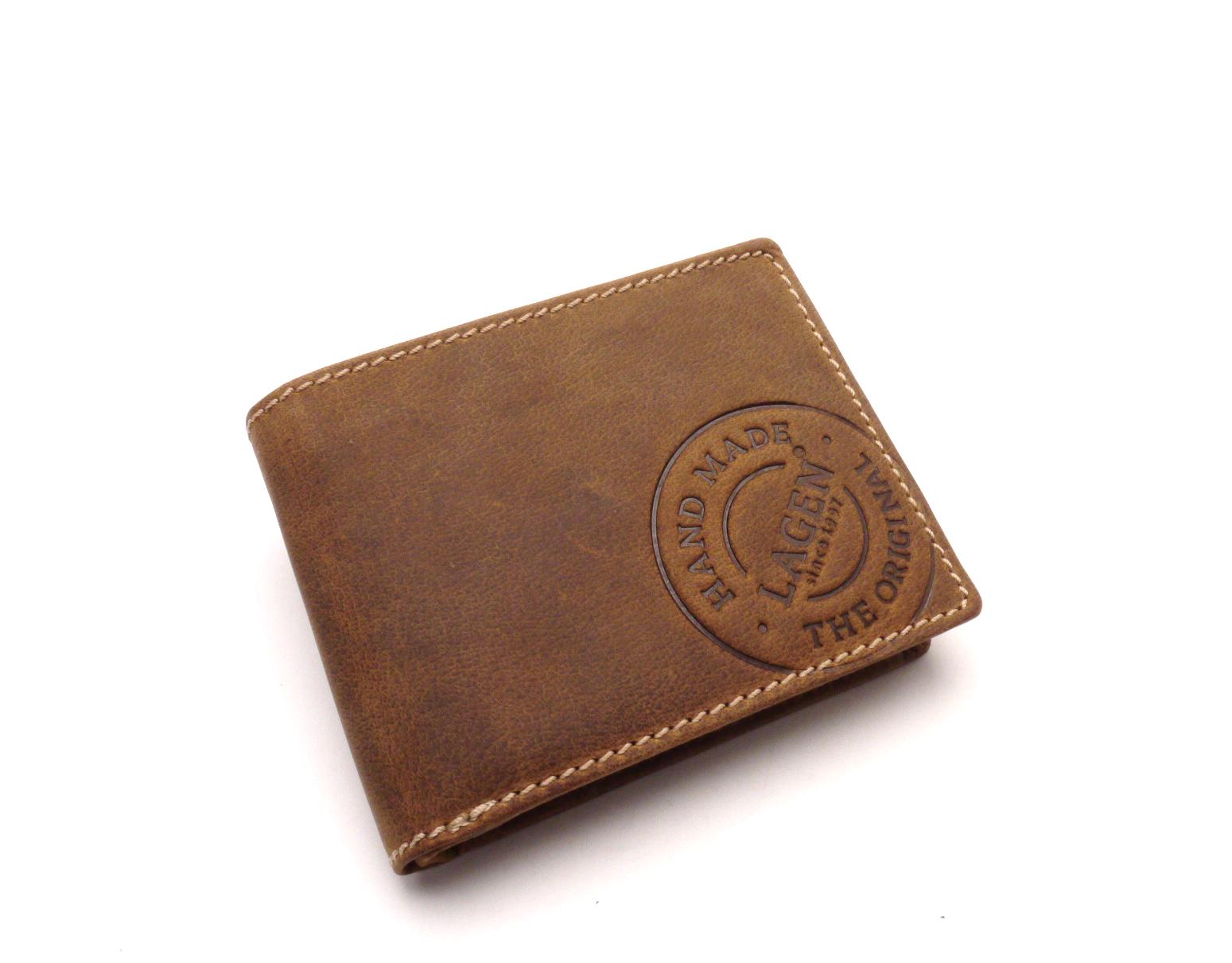 Lagen Pánská kožená peněženka 5083/C BROWN