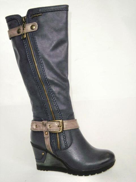 John Garfield Dámská elegantní obuv na klínku km453043-0-19 Velikost: 37