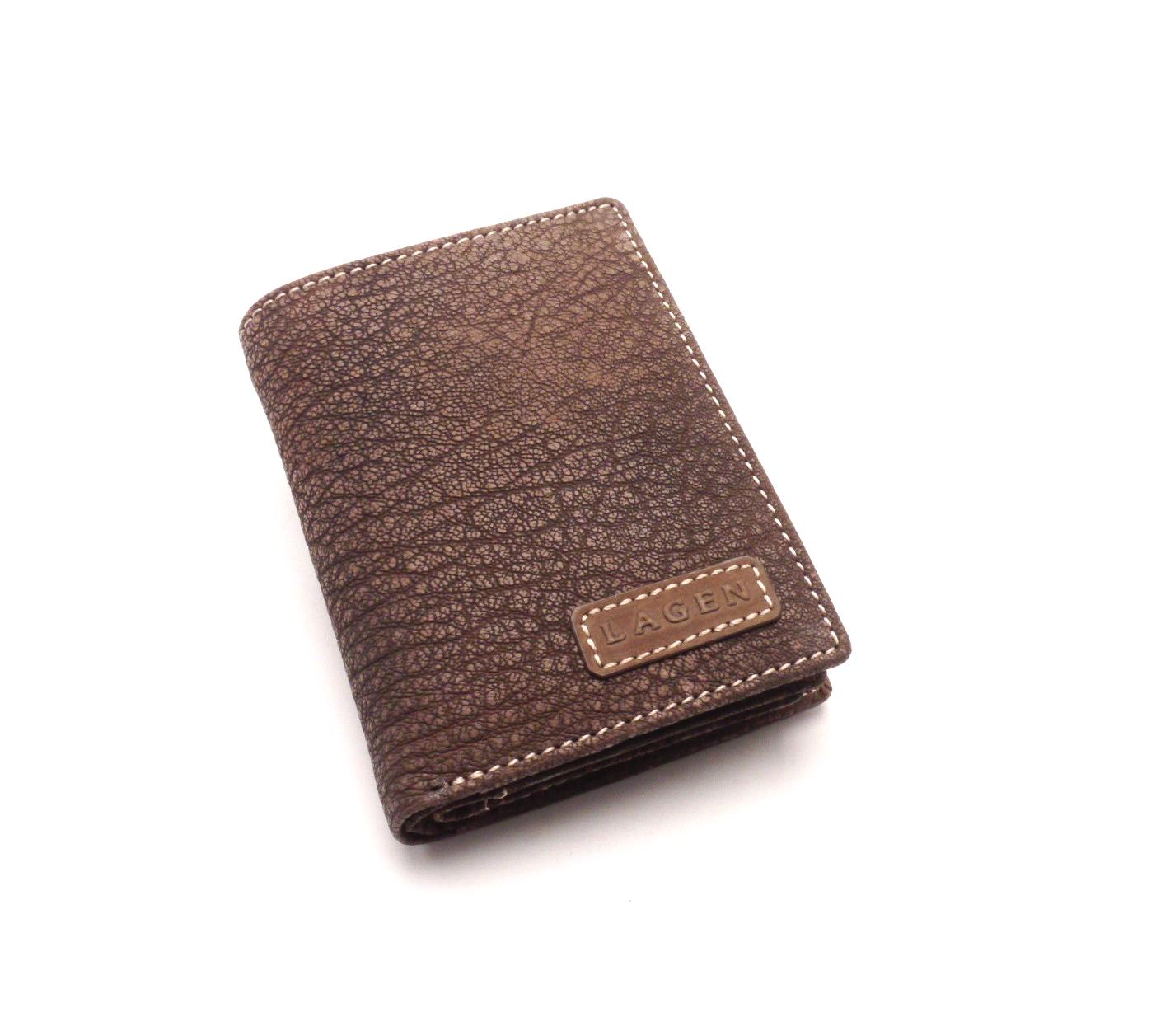 Lagen Pánská peněženka LM-8315/W BROWN