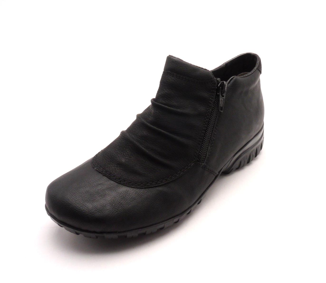 Rieker Dámská černá obuv s kožíškem L4691-01 Velikost: 37