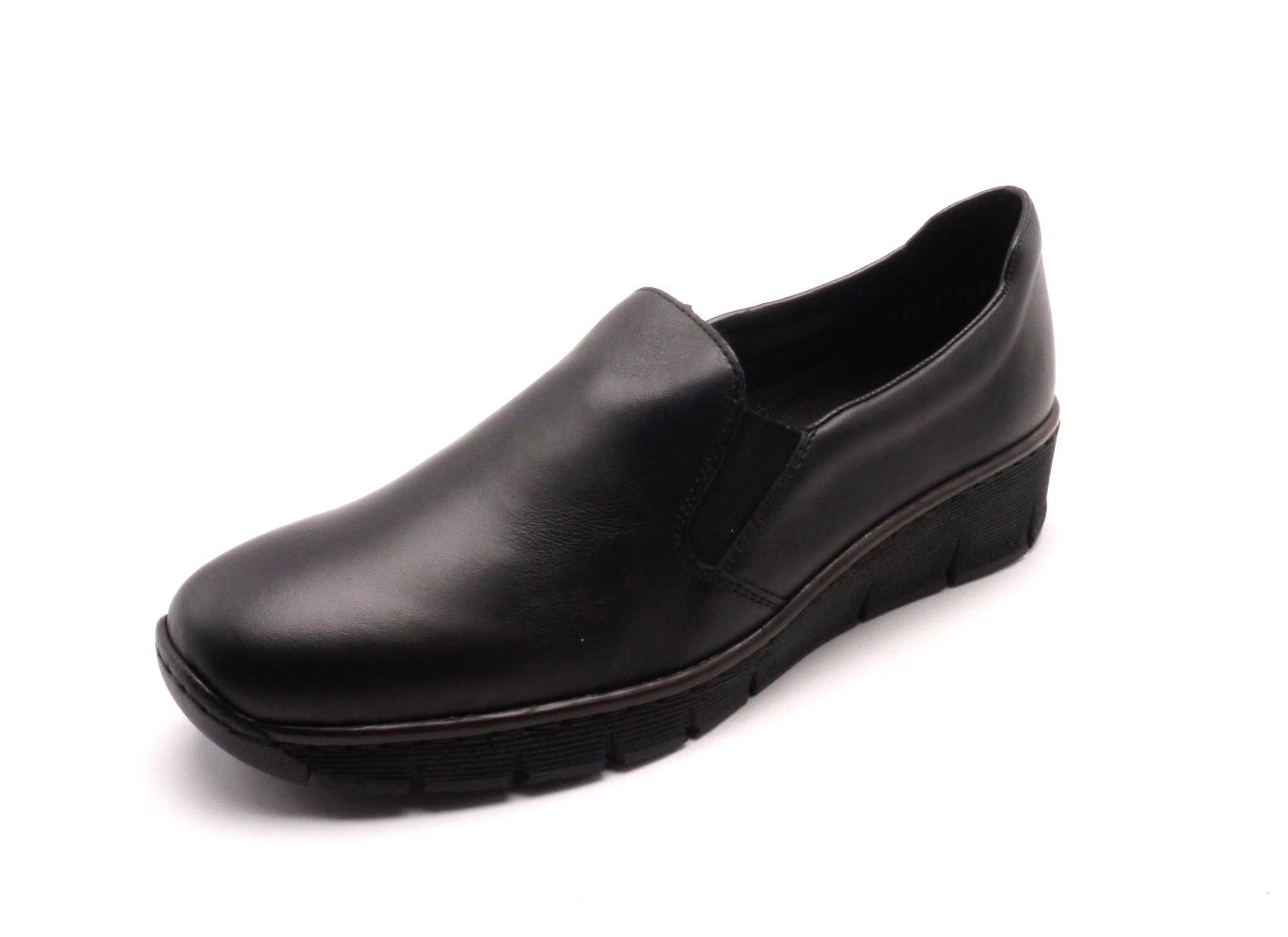 Rieker Dámské elegantní černé mokasíny 53766-00 Velikost: 42