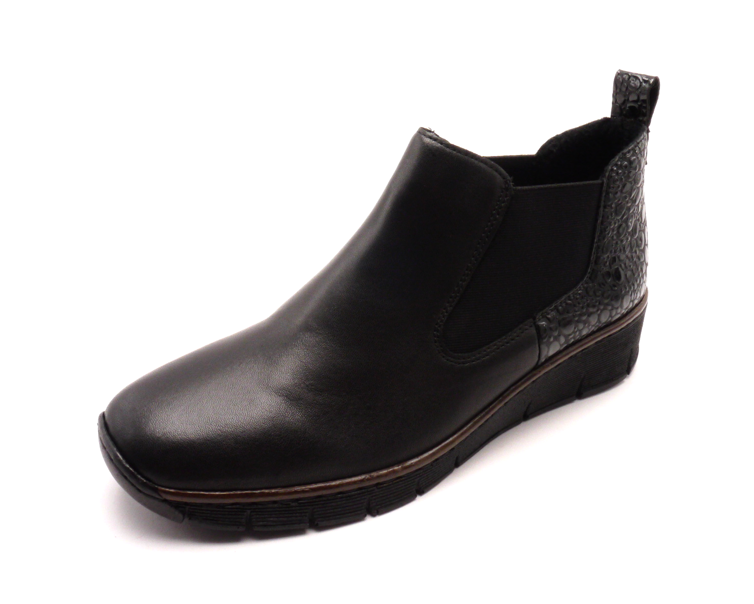 Rieker Dámské kotníkové boty na klínku 53794-00 Velikost: 39