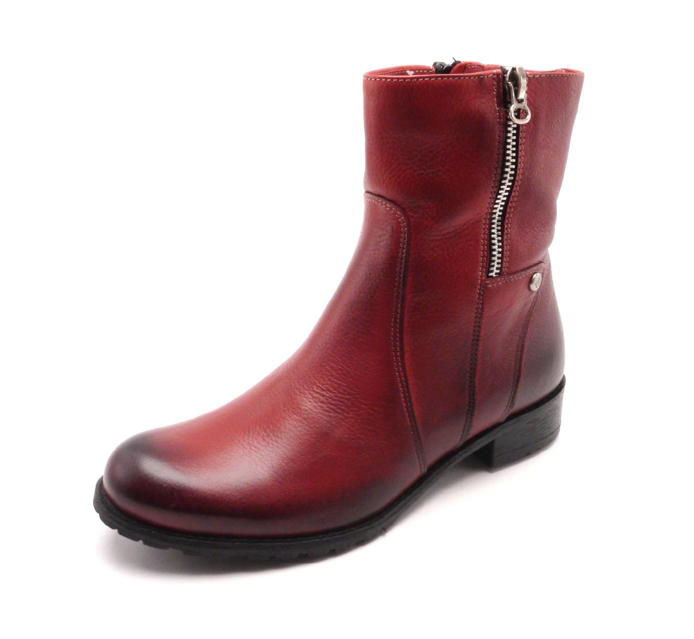 Hilby Dámské kotníkové boty červené A280-102-l Velikost: 36