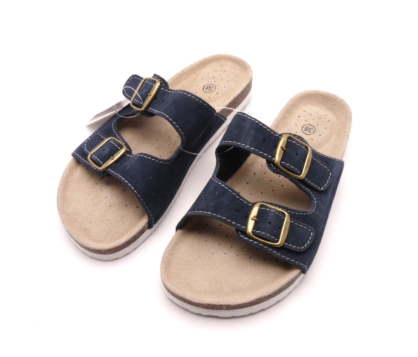 Madler Domácí pantofle m2242 modré Velikost  37 74f93c9782